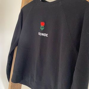Brunette the label crop sweater